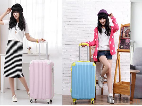 So sánh sự khác biệt giữa vali kéo vải và vali kéo nhựa