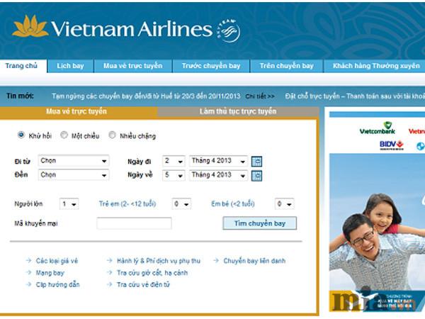 Bảng giá vé máy bay Vietnam Airlines quốc tế tháng 7/2016