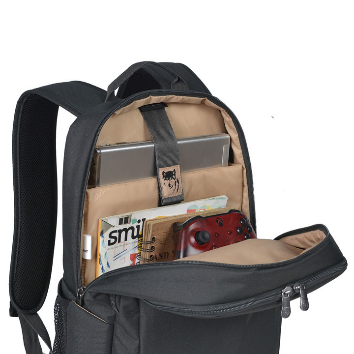 Mikkor The Edwin Backpack M Charcoal 4