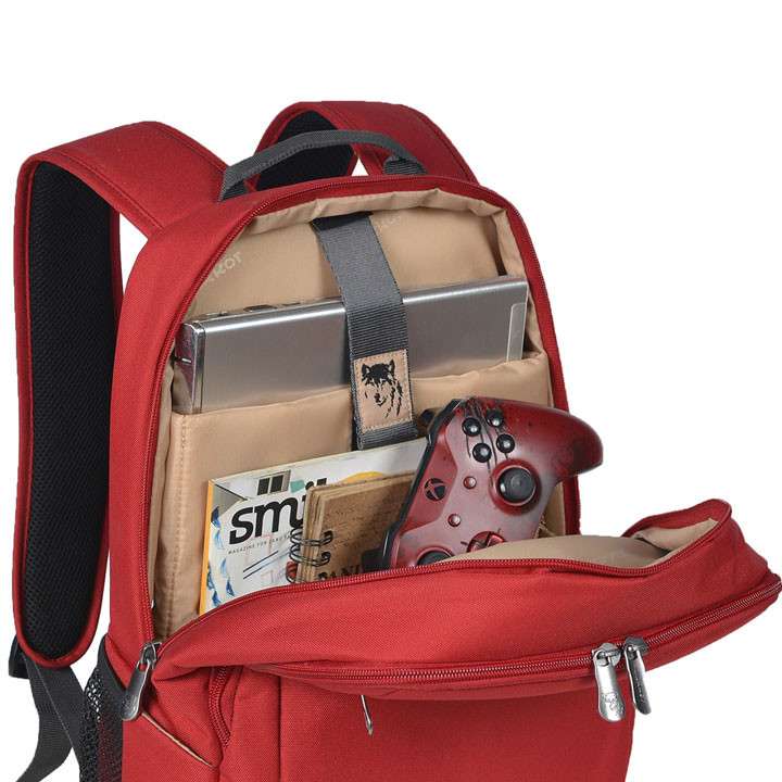 Mikkor The Edwin Backpack M Red 4