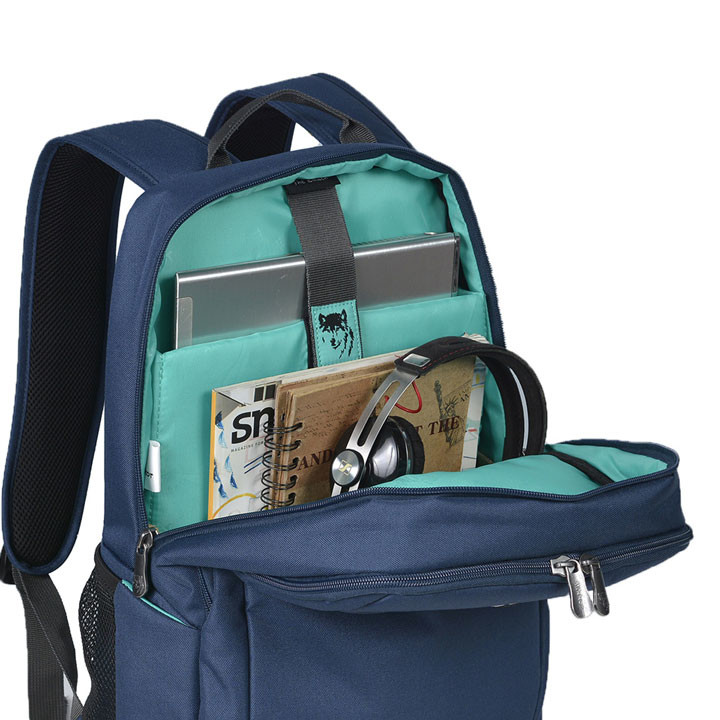 Mikkor The Edwin Backpack M Navy 4