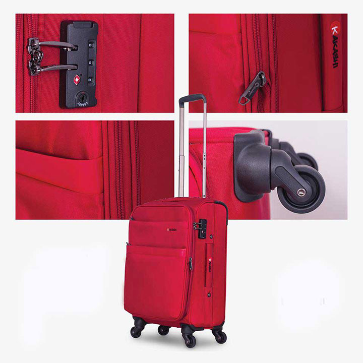 So sánh ưu điểm của vali vải và vali nhựa