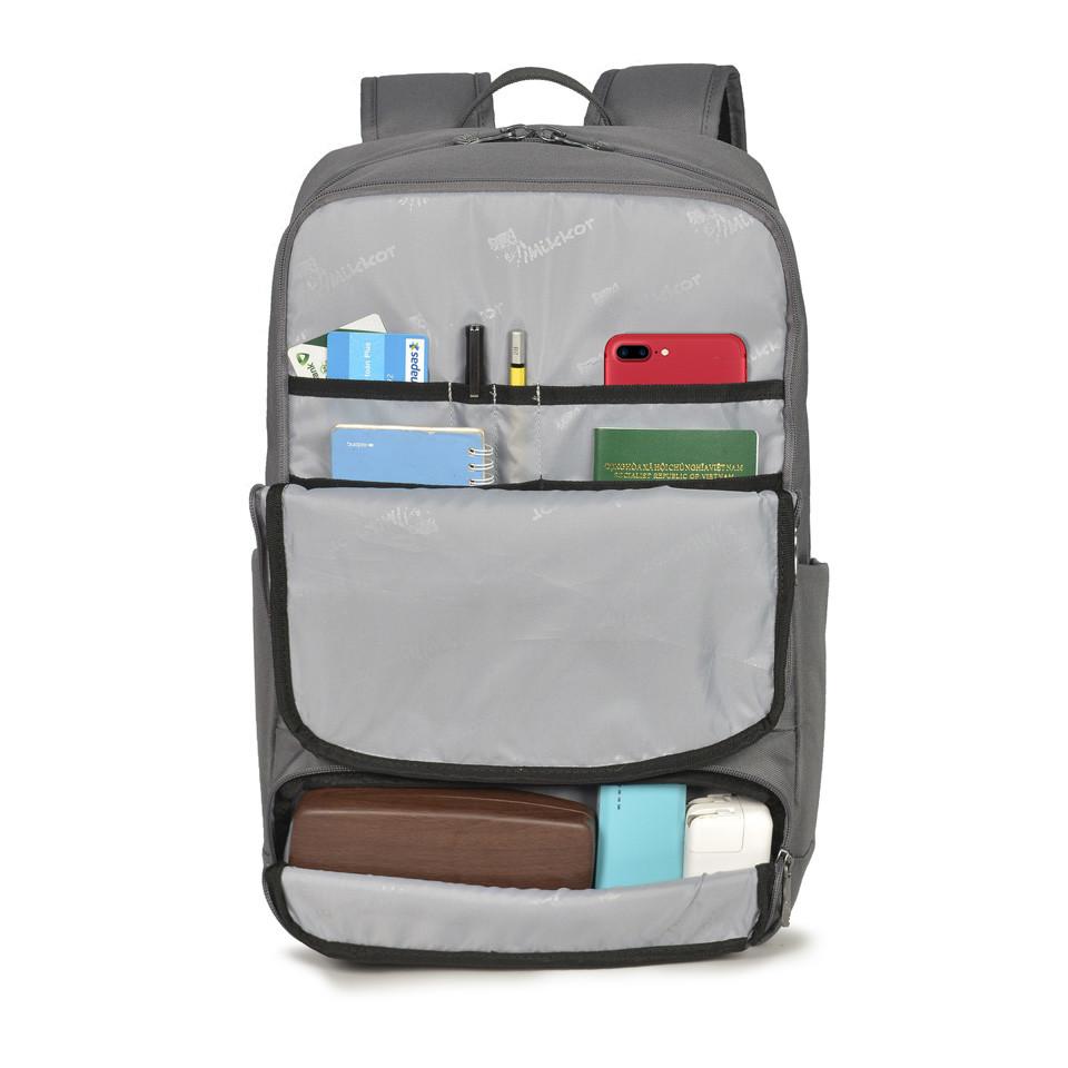 mikkor-the-royce-backpack-m-dark-mouse-grey5